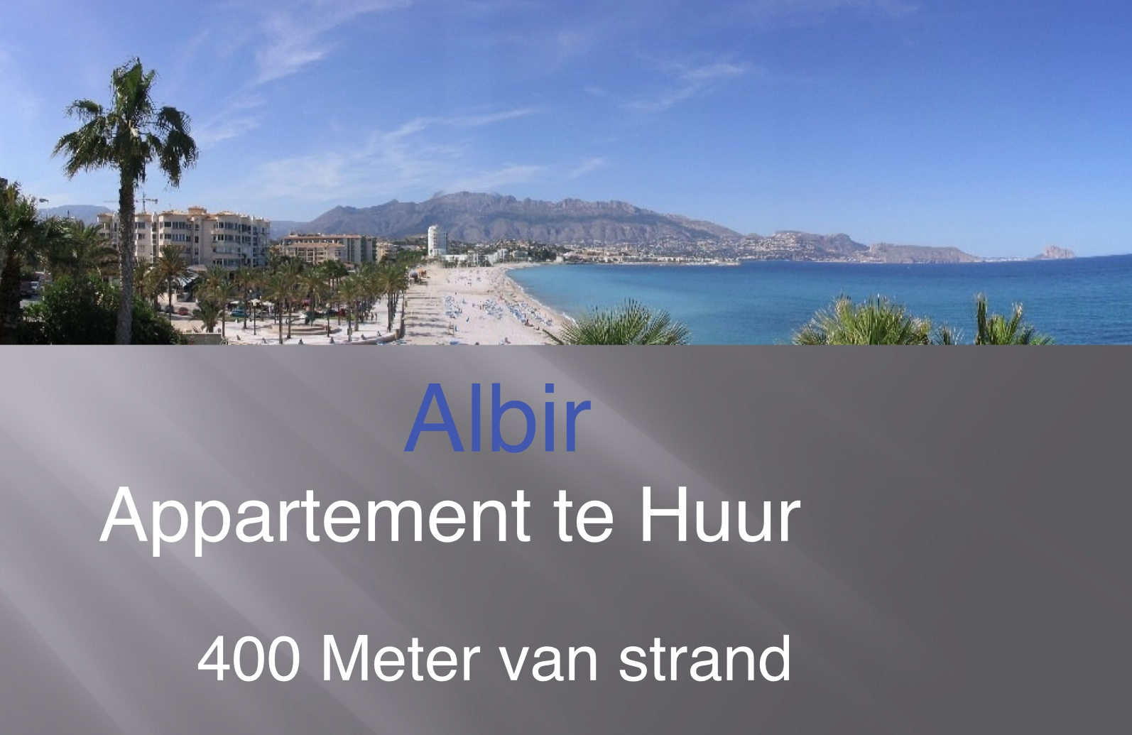 Appartement Albir centrum